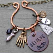 Believe Cluster Necklace