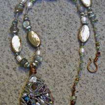 Wire Collage Abalone Necklace