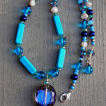 Blue Sky Crystal Necklace