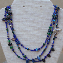 Cobalt Blue Wrap Necklace