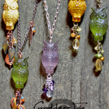 Lucite Owls Necklace