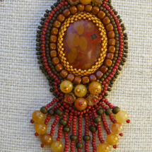 Morgan Hill Poppy Jasper Bead Embroidery