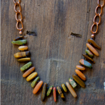 Mixed Stone Bib necklace