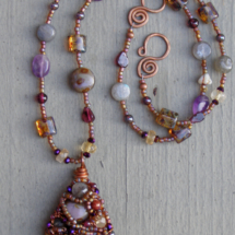 Wire Collage Necklace
