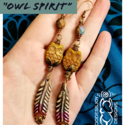 Owl Spirit Earrings by GoddessJoy Designs