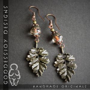 Frost Leaf Brass Earrings