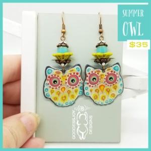 Summer Owl Earrings