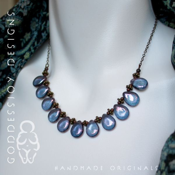 Bib Necklace - Purple